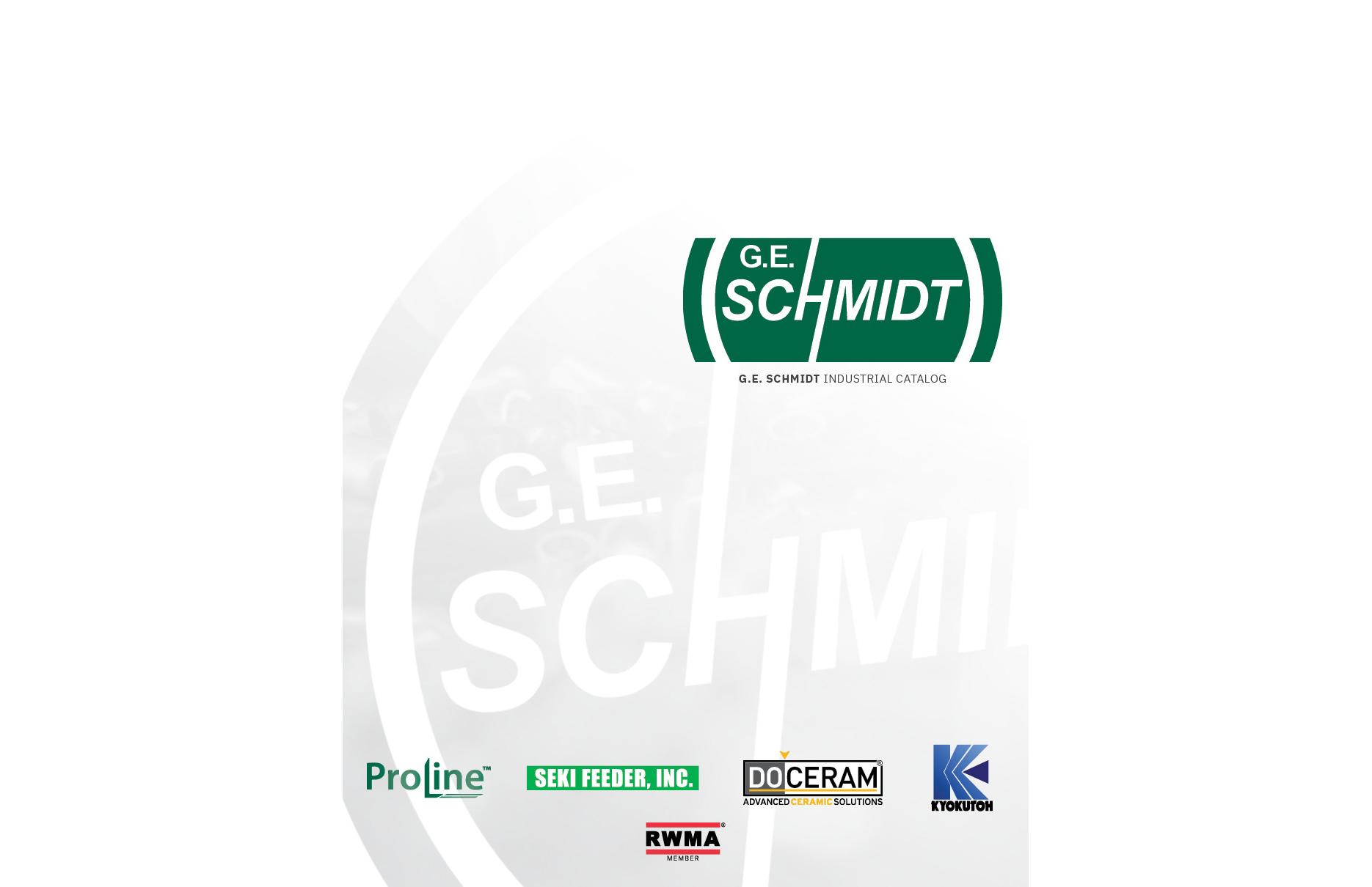 GE Schmidt Catalog Cover
