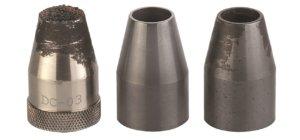 Standard vs. ceramic nozzle comparison