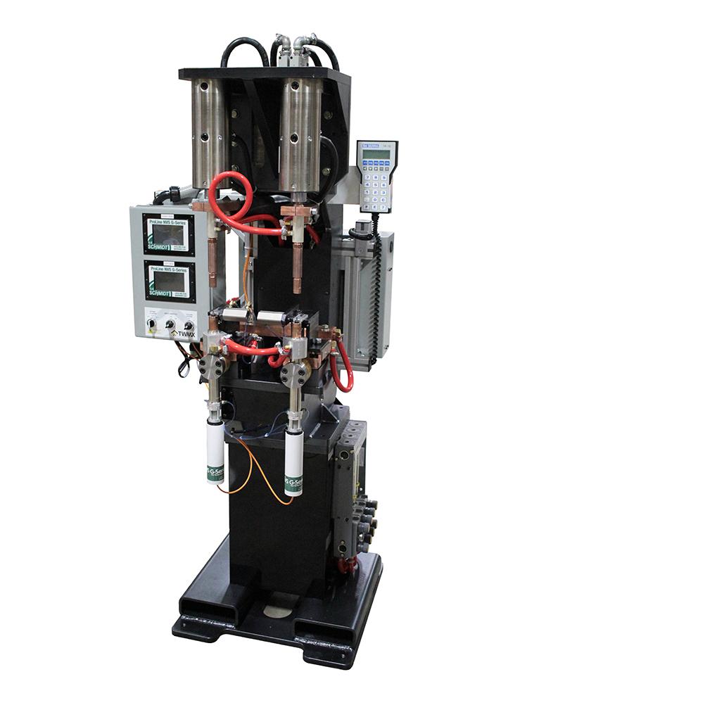 ProLine Adaptive Series Dual Head Nut Welder with Serra Weld Control, ProLine Nut Verification System and RoMan Transformer