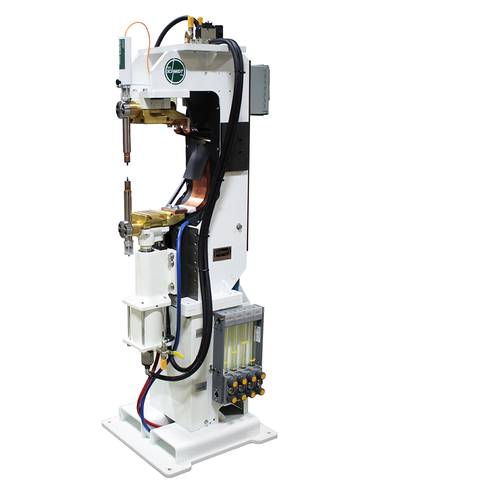 ProLine Adaptive Series SD welder, upside-down, with Entron Weld Control and RoMan Weld Transformer